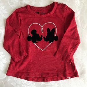 🌼 Baby Gap Girls Minnie Mouse Shirt 2T